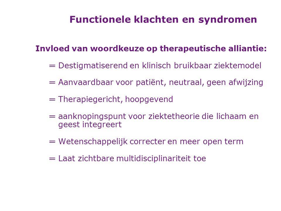 Functionele klachten en syndromen