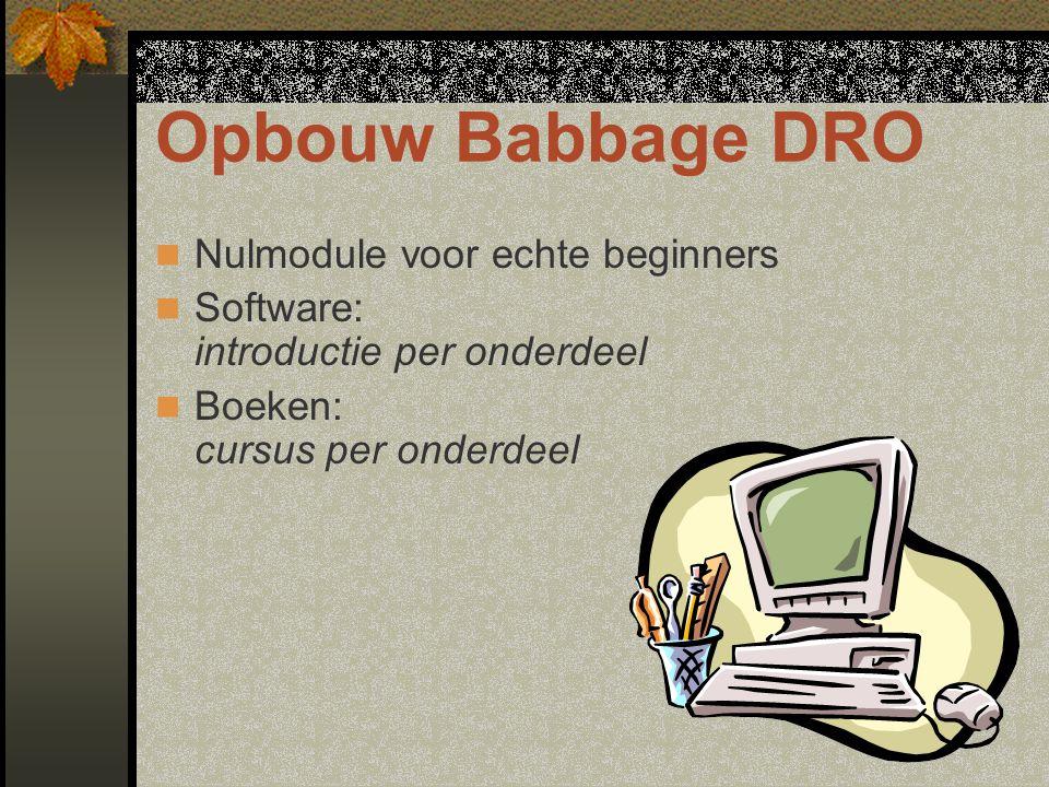 Opbouw Babbage DRO Nulmodule voor echte beginners