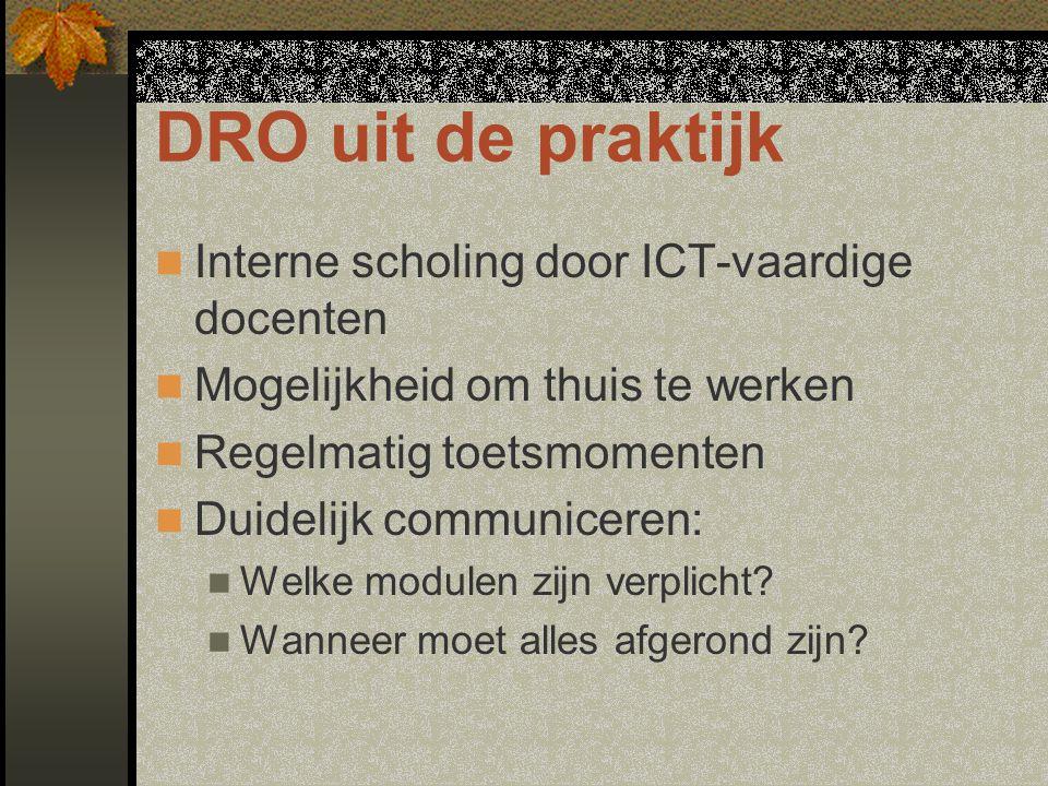 DRO uit de praktijk Interne scholing door ICT-vaardige docenten
