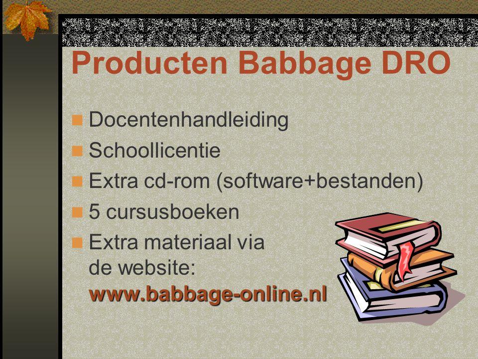 Producten Babbage DRO Docentenhandleiding Schoollicentie