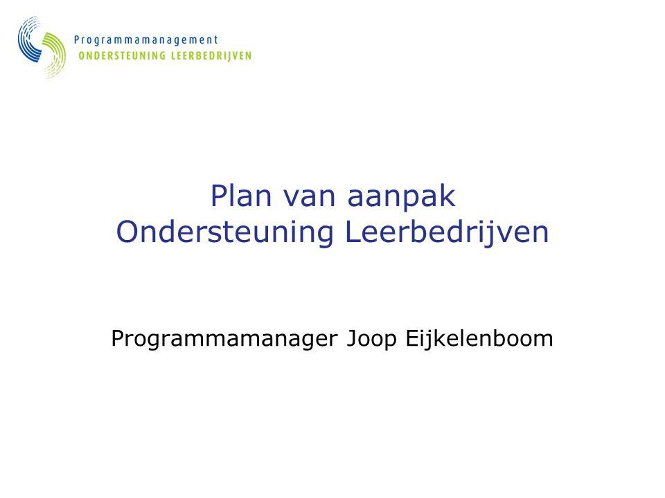 Plan van aanpak Ondersteuning Leerbedrijven