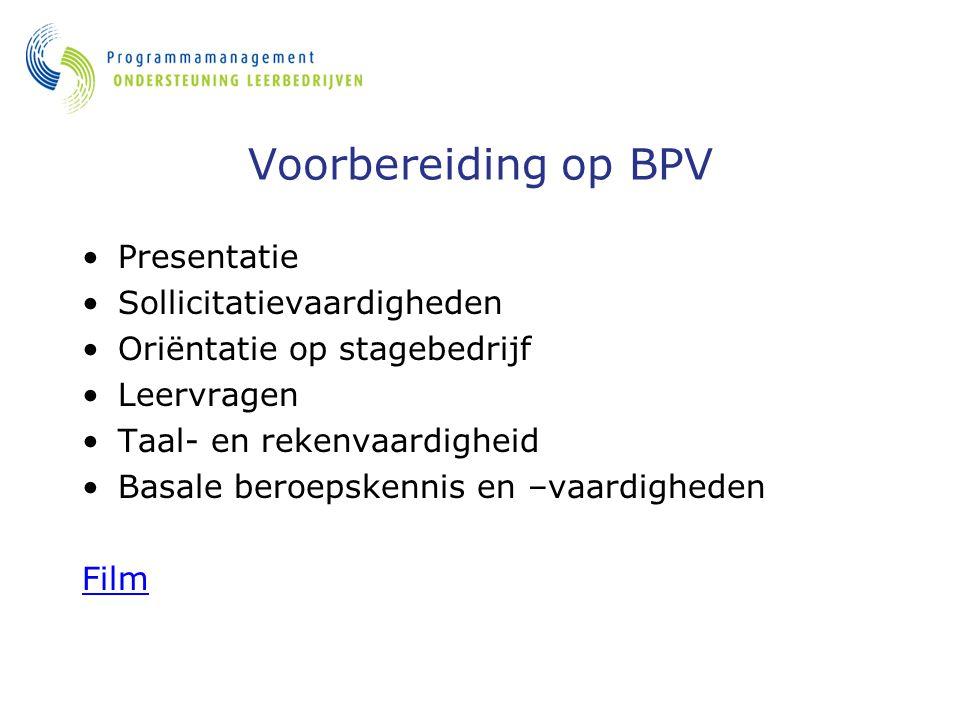 Voorbereiding op BPV Presentatie Sollicitatievaardigheden