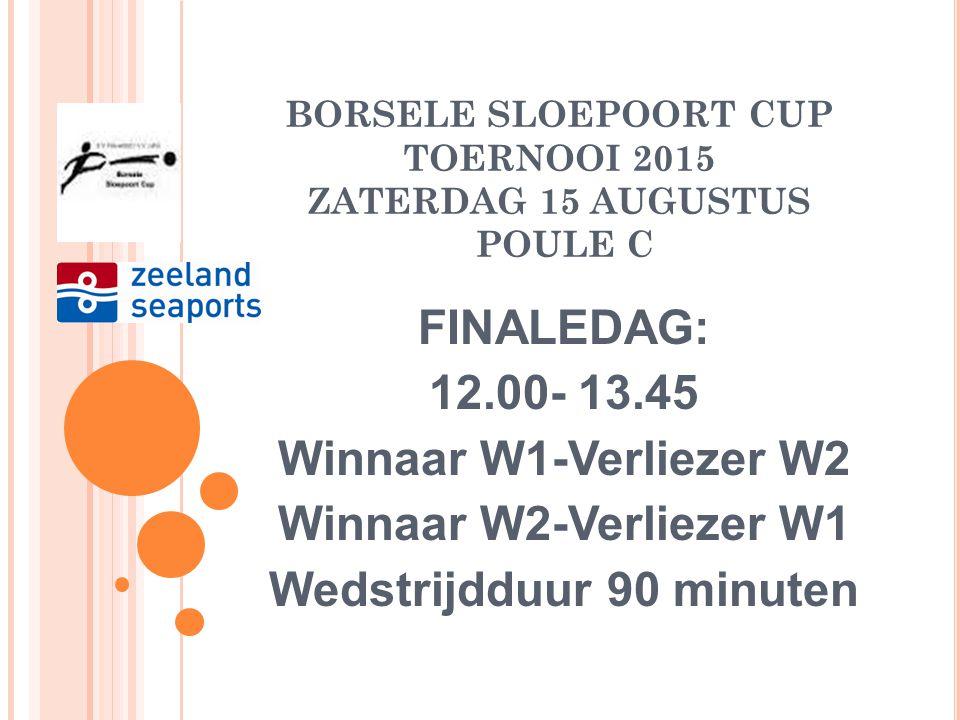BORSELE SLOEPOORT CUP TOERNOOI 2015 ZATERDAG 15 AUGUSTUS POULE C