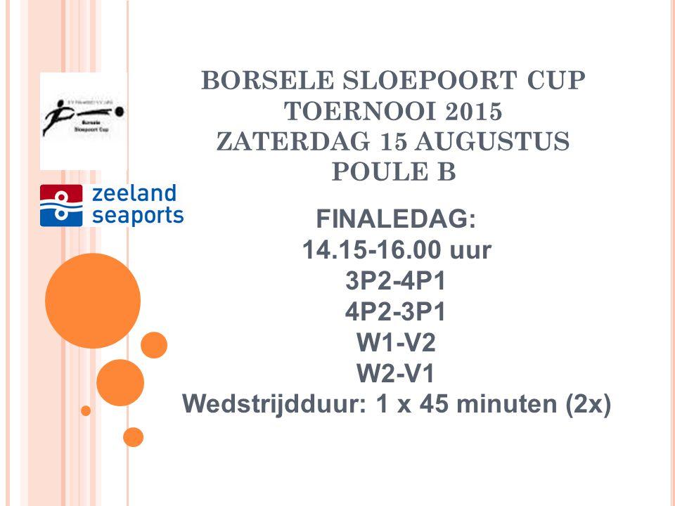 BORSELE SLOEPOORT CUP TOERNOOI 2015 ZATERDAG 15 AUGUSTUS POULE B