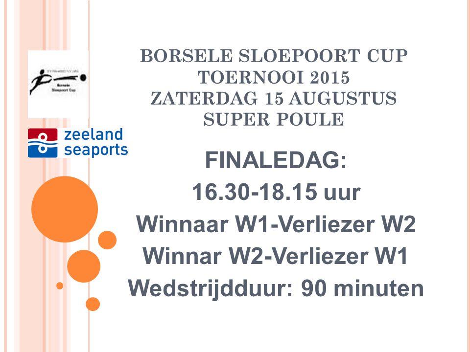 BORSELE SLOEPOORT CUP TOERNOOI 2015 ZATERDAG 15 AUGUSTUS SUPER POULE
