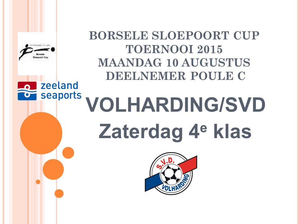 VOLHARDING/SVD Zaterdag 4e klas