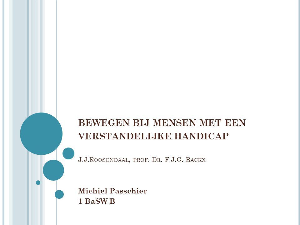 Michiel Passchier 1 BaSW B