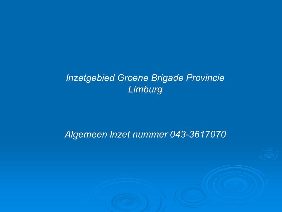 Inzetgebied Groene Brigade Provincie Limburg