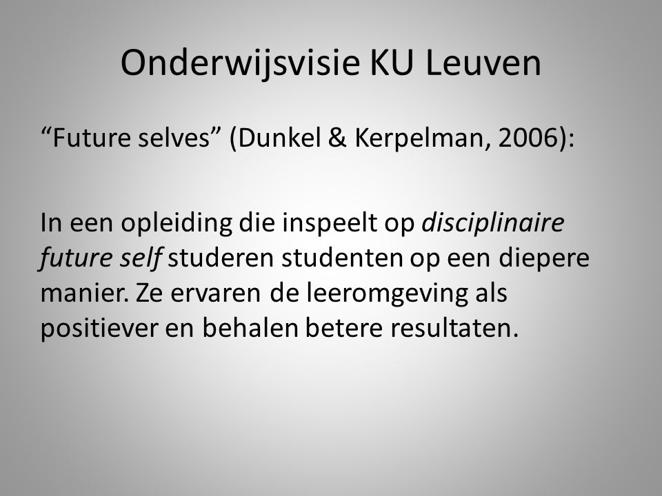 Onderwijsvisie KU Leuven