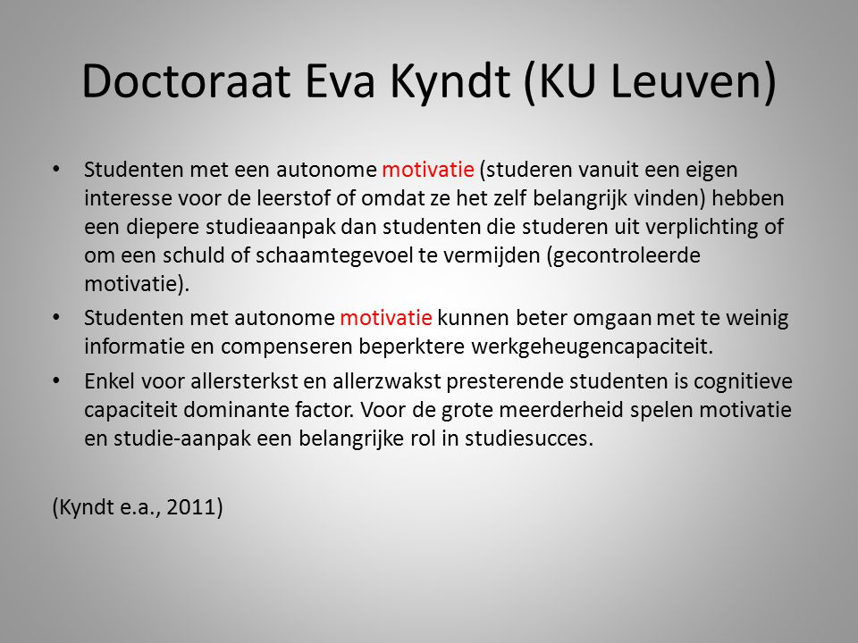Doctoraat Eva Kyndt (KU Leuven)