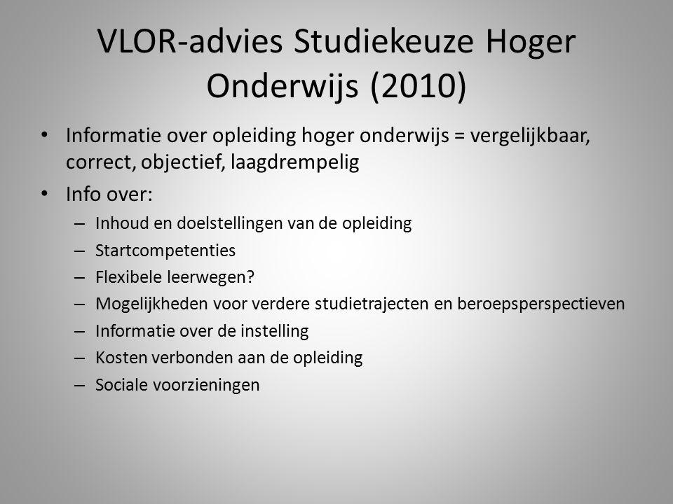 VLOR-advies Studiekeuze Hoger Onderwijs (2010)