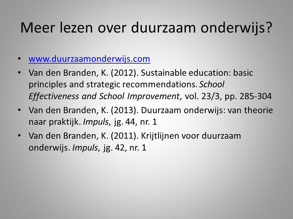 Meer lezen over duurzaam onderwijs