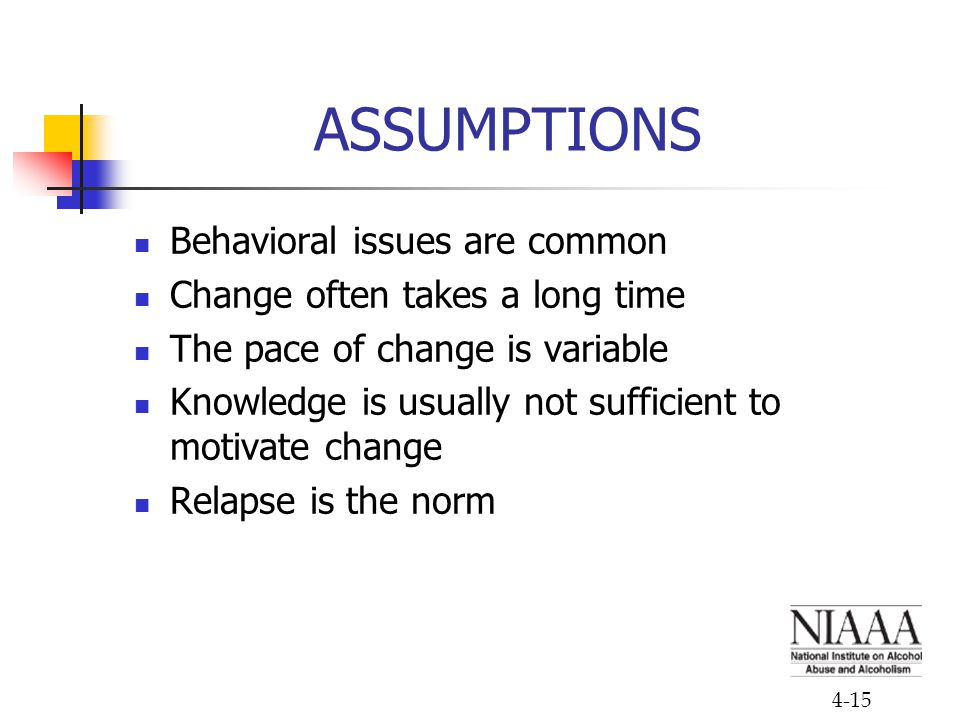 ASSUMPTIONS Behavioral issues are common