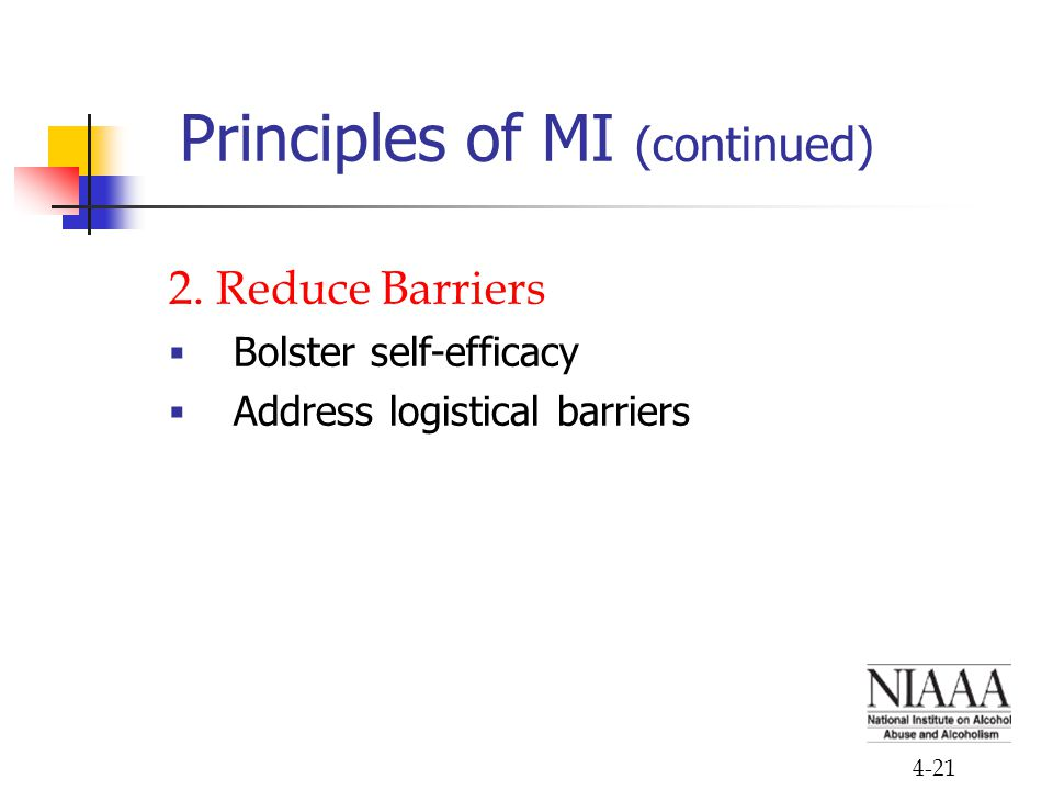 Principles of MI (continued)