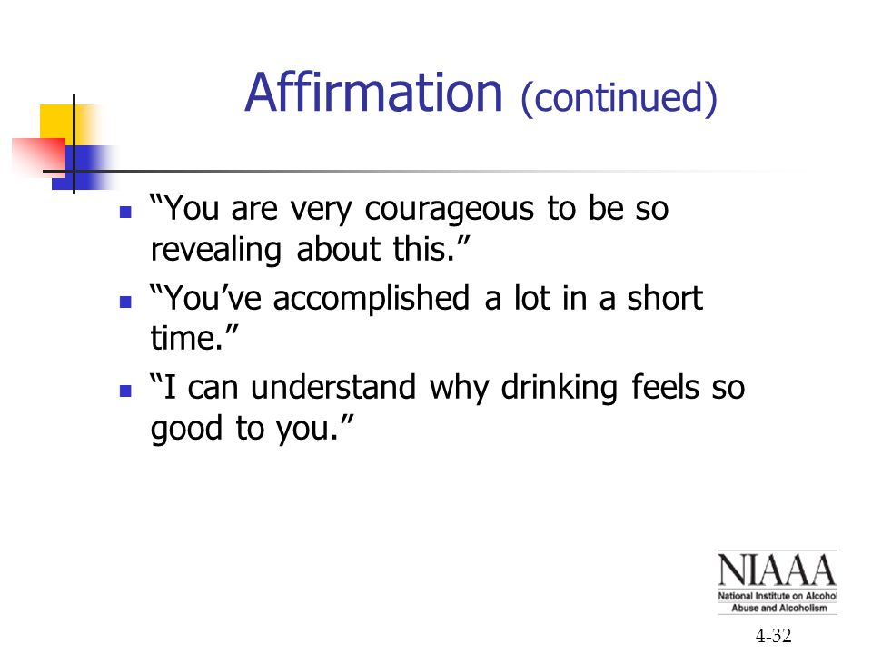 Affirmation (continued)