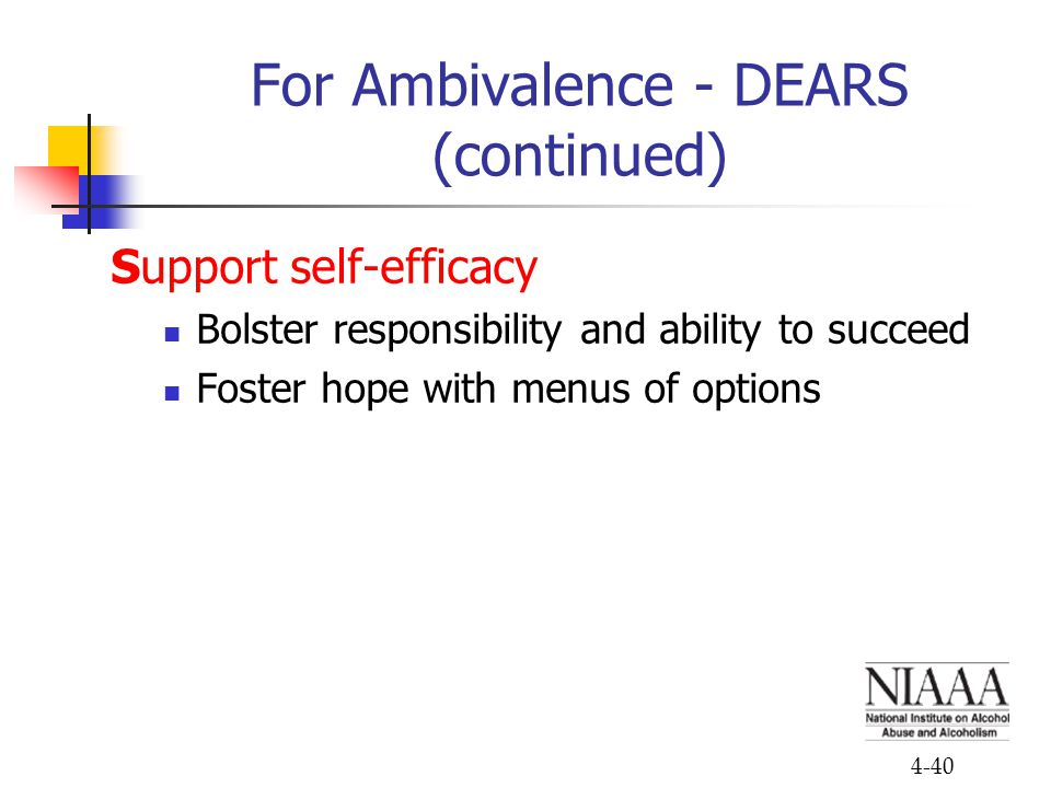 For Ambivalence - DEARS (continued)