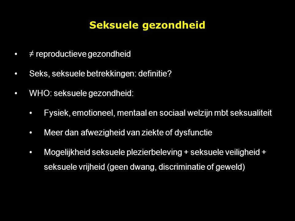 Seksuele gezondheid ≠ reproductieve gezondheid