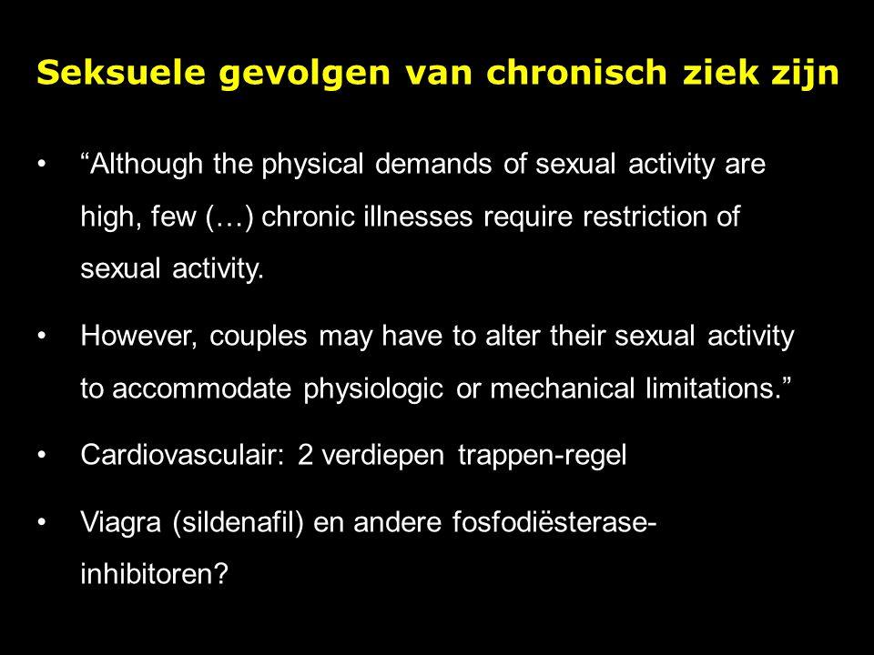 Seksuele gevolgen van chronisch ziek zijn