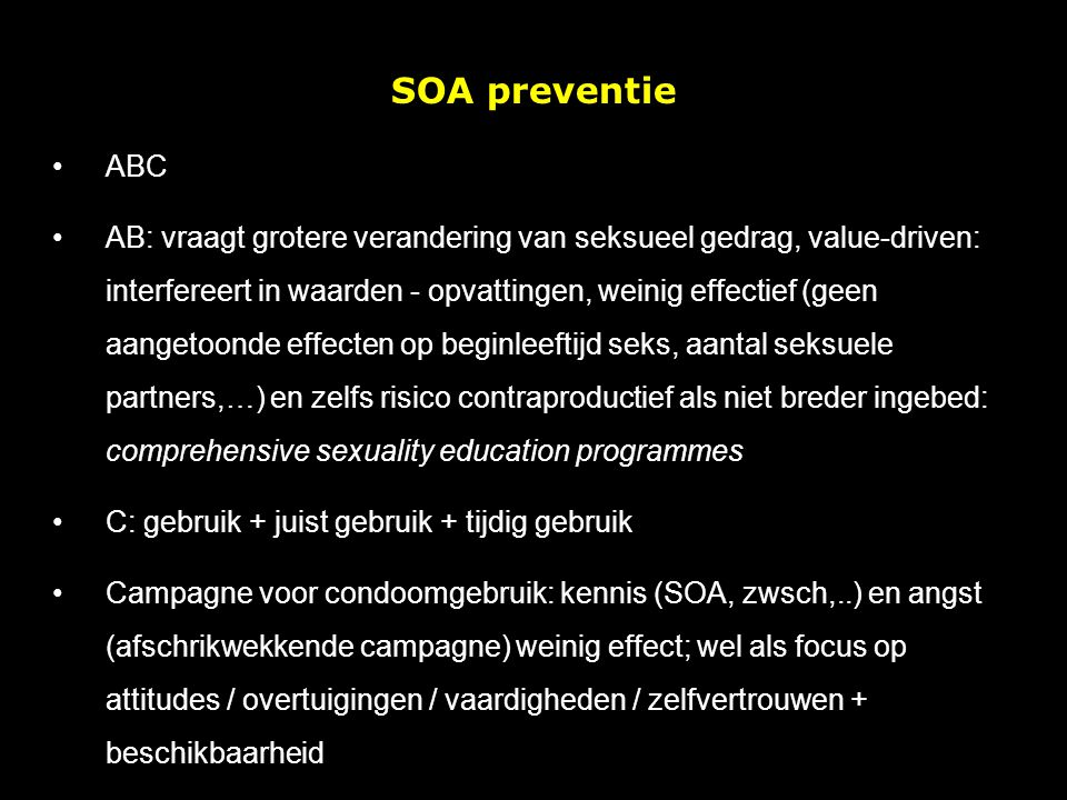 SOA preventie ABC.