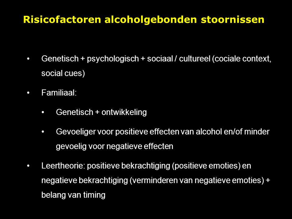 Risicofactoren alcoholgebonden stoornissen