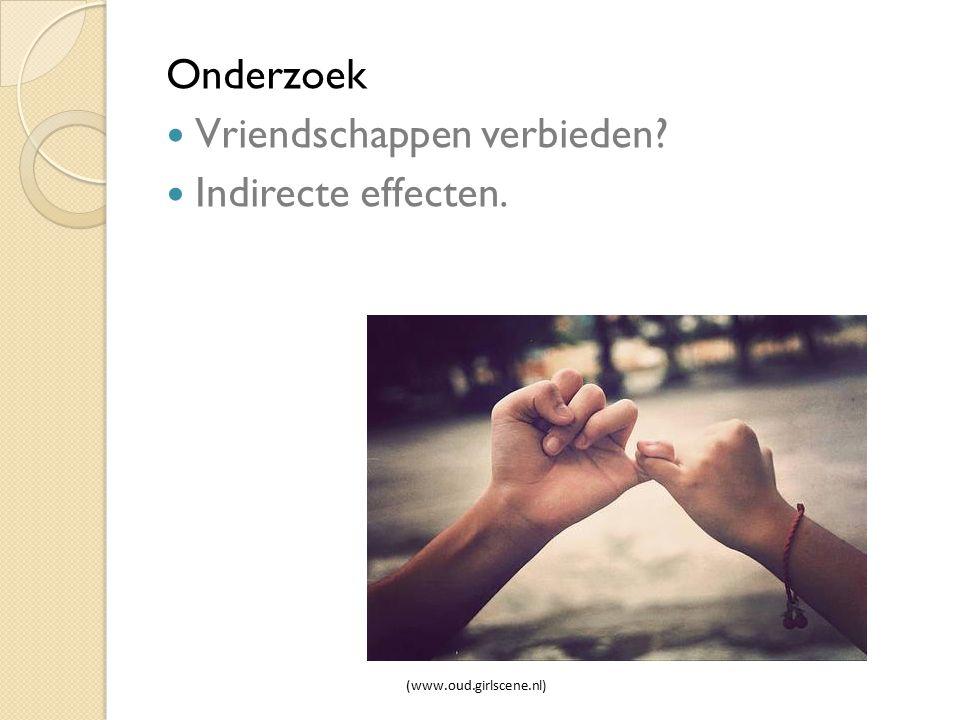 Vriendschappen verbieden Indirecte effecten.