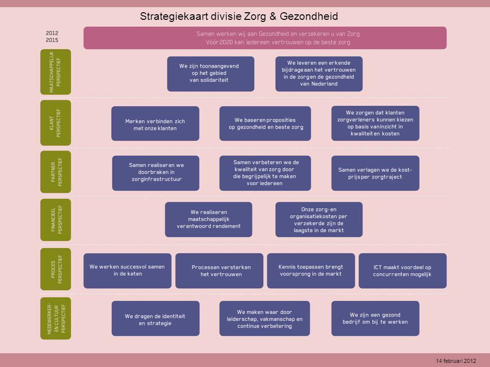 Strategiekaart divisie Zorg & Gezondheid