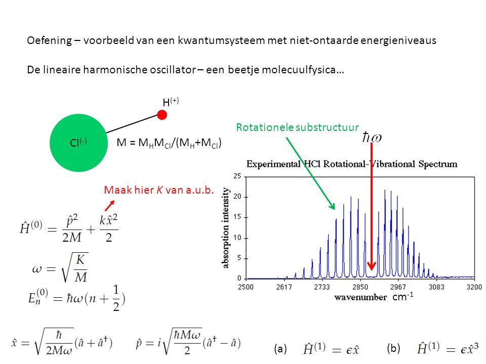 Oefening – voorbeeld van een kwantumsysteem met niet-ontaarde energieniveaus