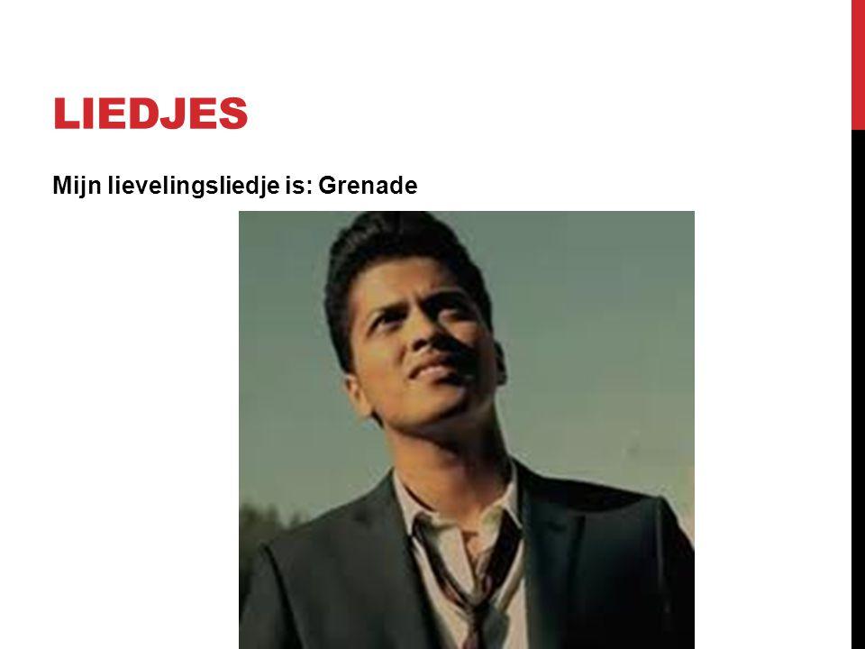liedjes Mijn lievelingsliedje is: Grenade