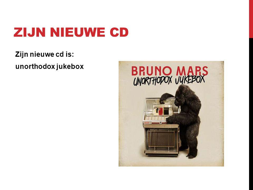 Zijn nieuwe cd Zijn nieuwe cd is: unorthodox jukebox