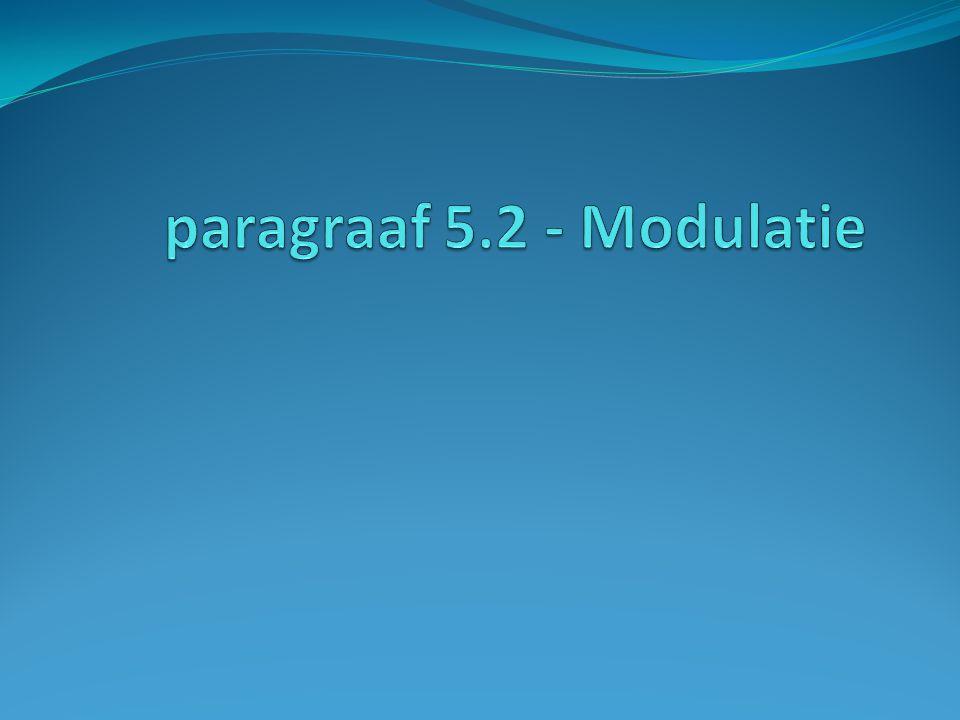 paragraaf 5.2 - Modulatie