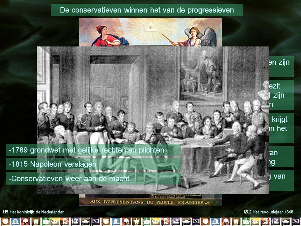 De conservatieven winnen het van de progressieven