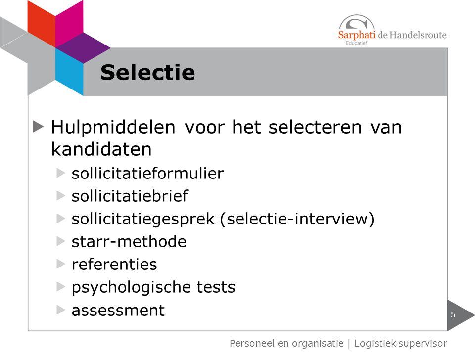 Selectie Hulpmiddelen voor het selecteren van kandidaten