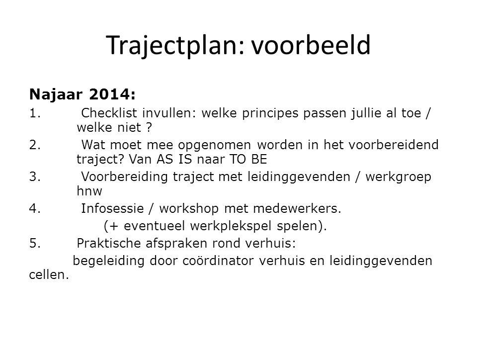 Trajectplan: voorbeeld