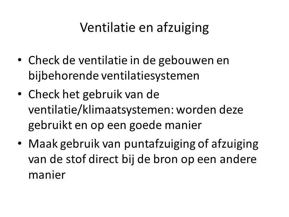 Ventilatie en afzuiging