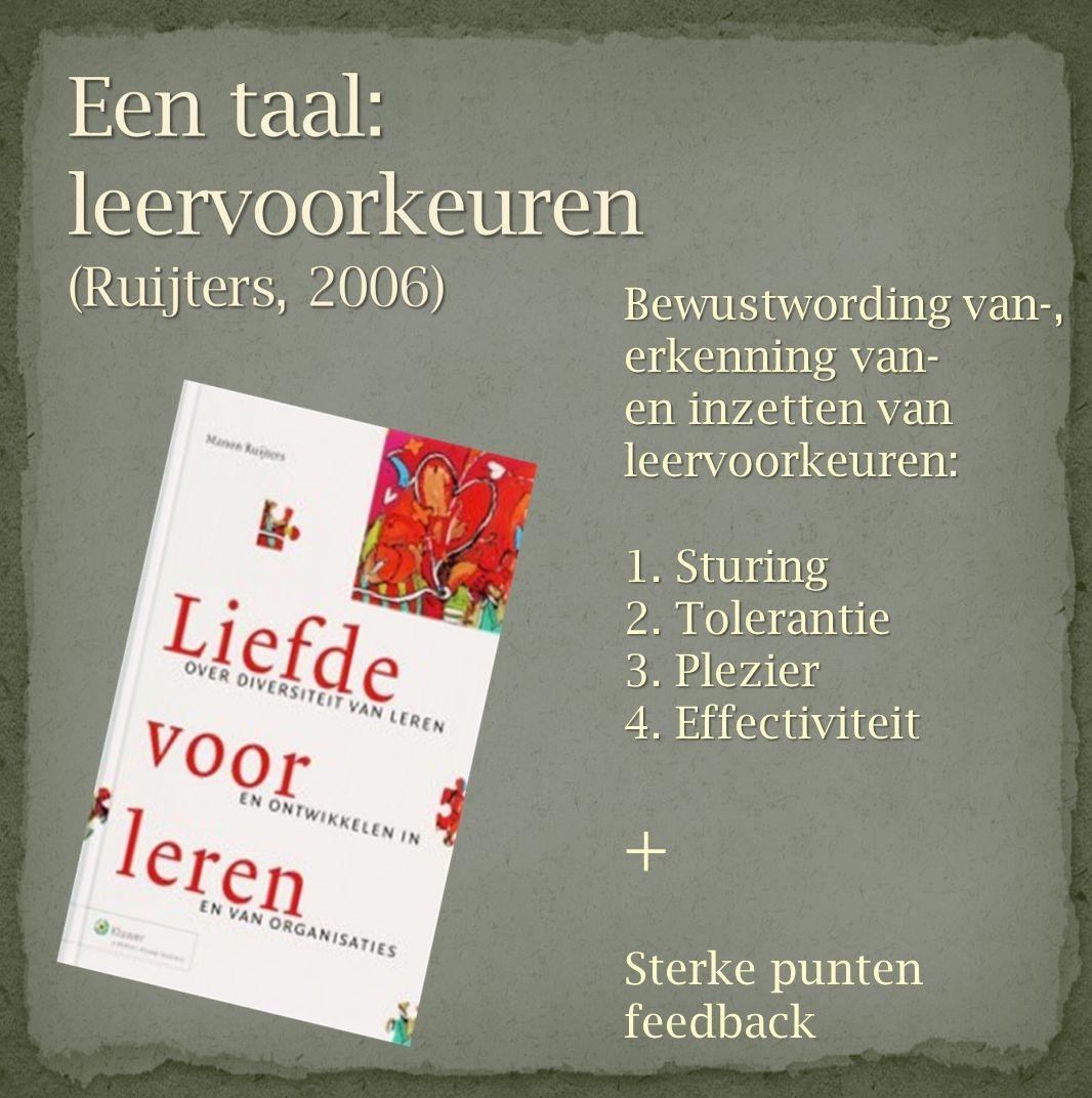 Een taal: leervoorkeuren (Ruijters, 2006)