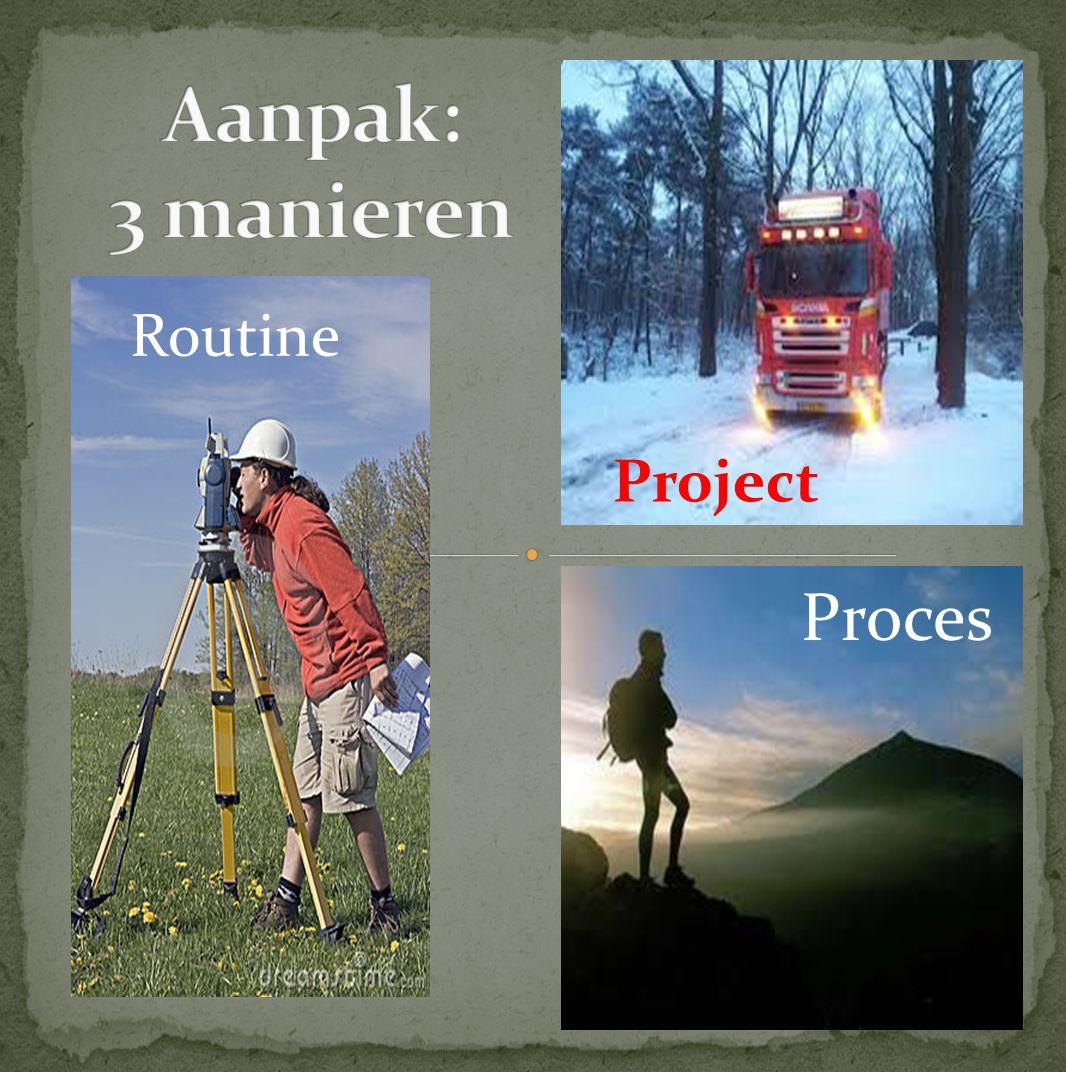 Aanpak: 3 manieren Routine Project Proces