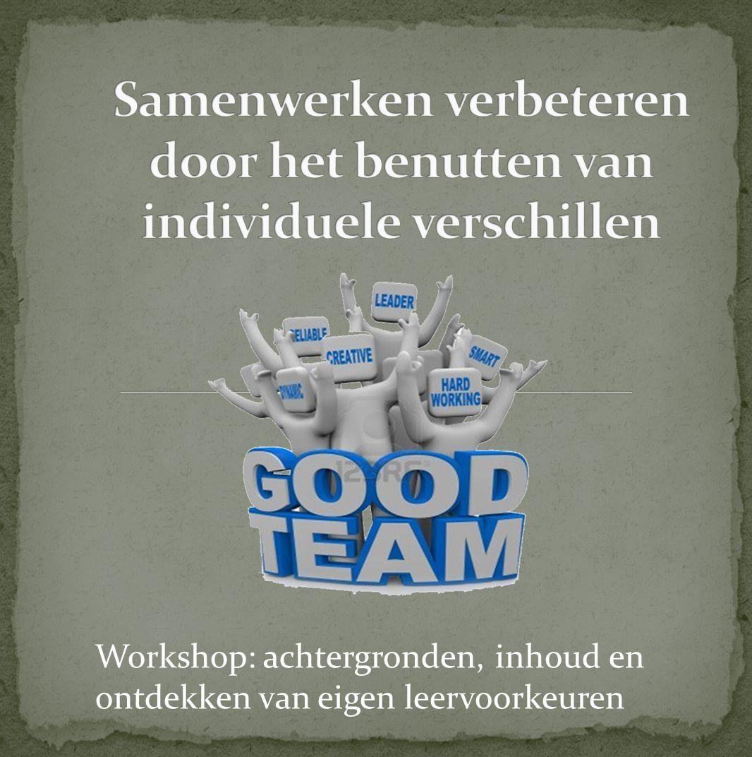Samenwerken verbeteren door het benutten van individuele verschillen