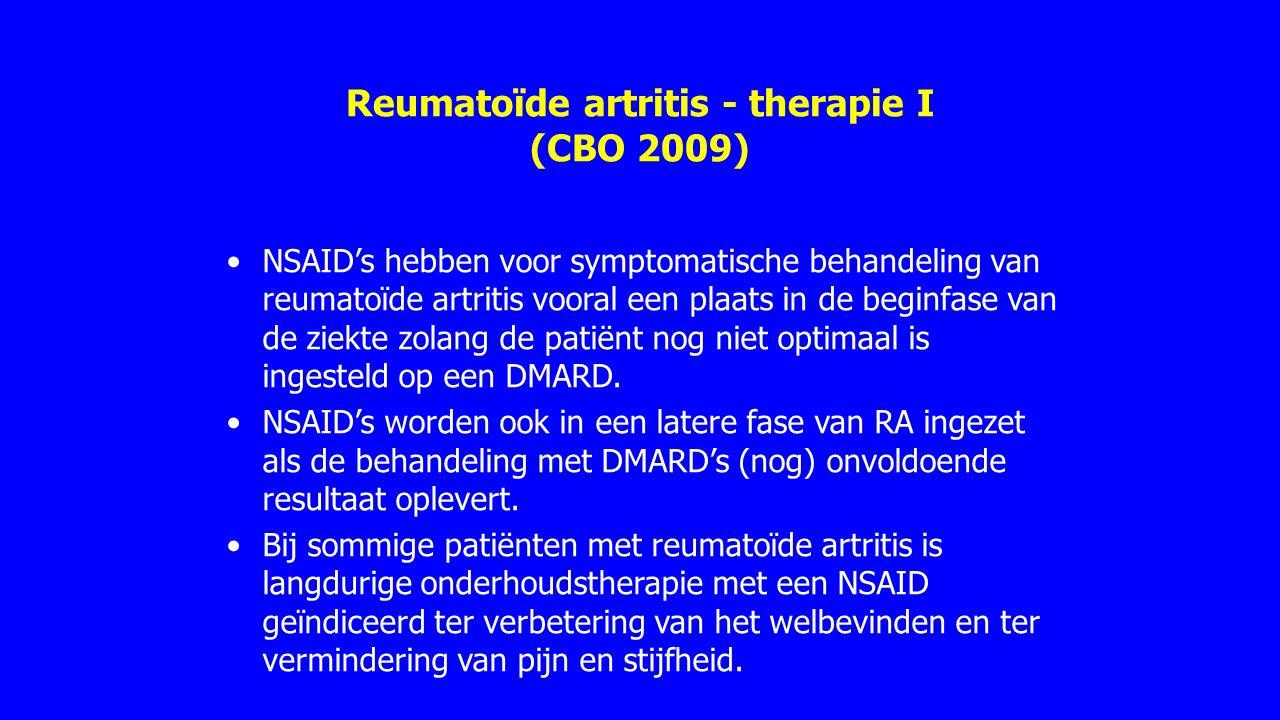 Reumatoïde artritis - therapie I (CBO 2009)