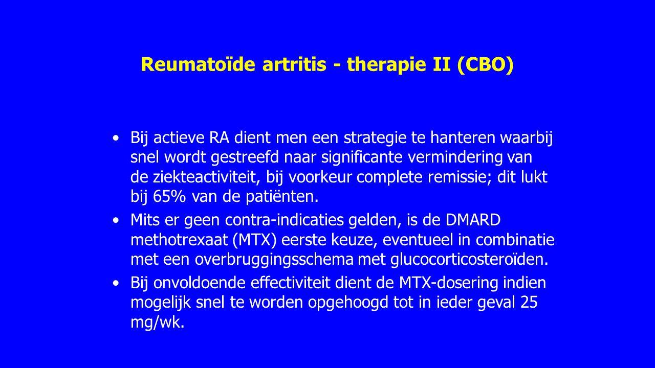 Reumatoïde artritis - therapie II (CBO)