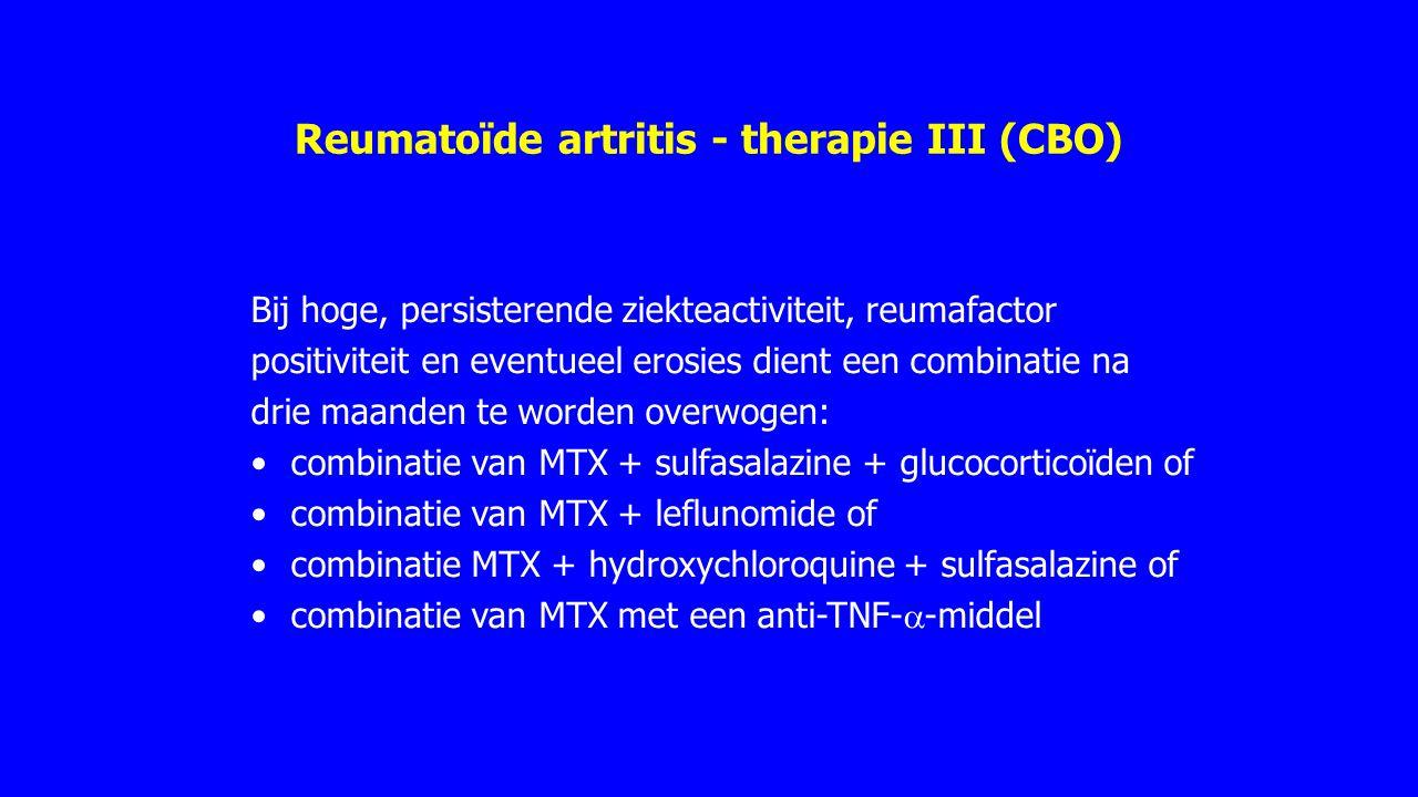 Reumatoïde artritis - therapie III (CBO)
