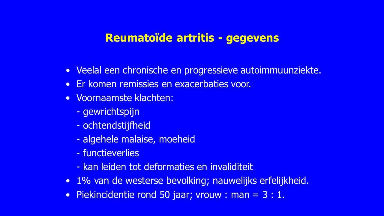 Reumatoïde artritis - gegevens