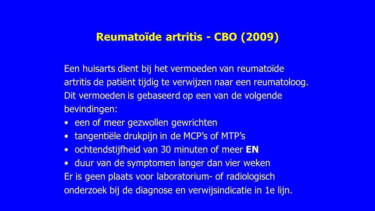 Reumatoïde artritis - CBO (2009)
