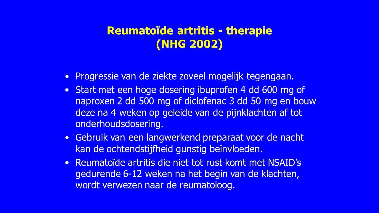 Reumatoïde artritis - therapie (NHG 2002)