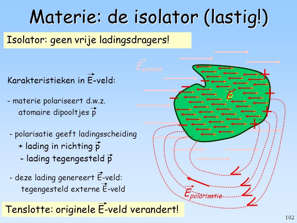 Materie: de isolator (lastig!)
