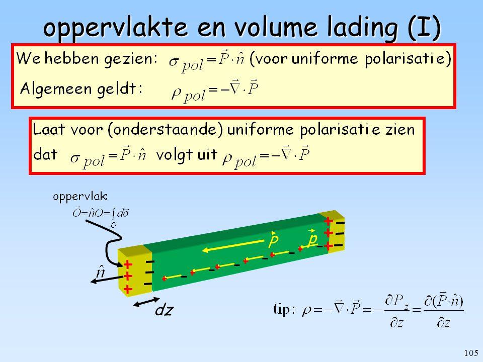 oppervlakte en volume lading (I)