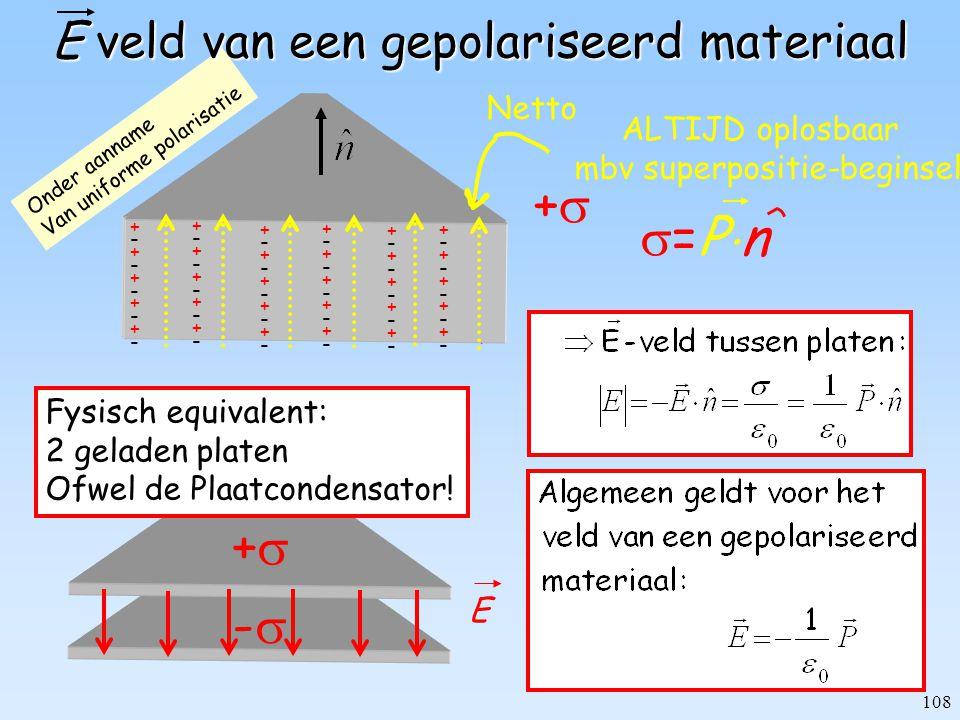 E veld van een gepolariseerd materiaal