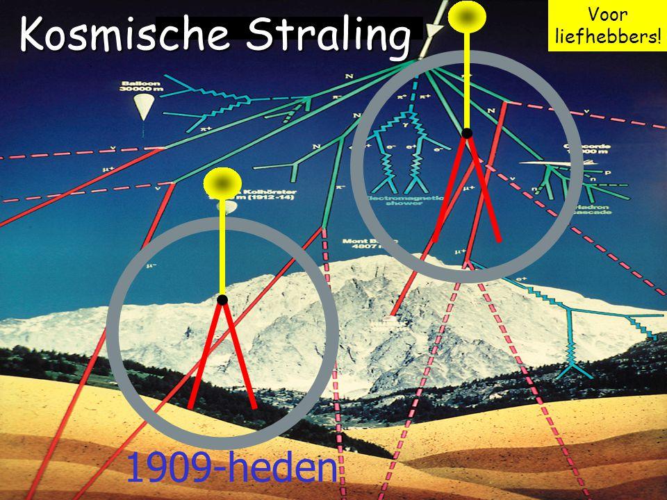 Voor liefhebbers! Kosmische Straling 1909-heden