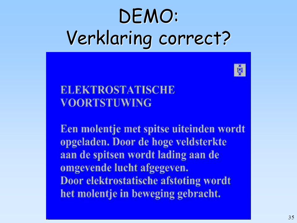 DEMO: Verklaring correct