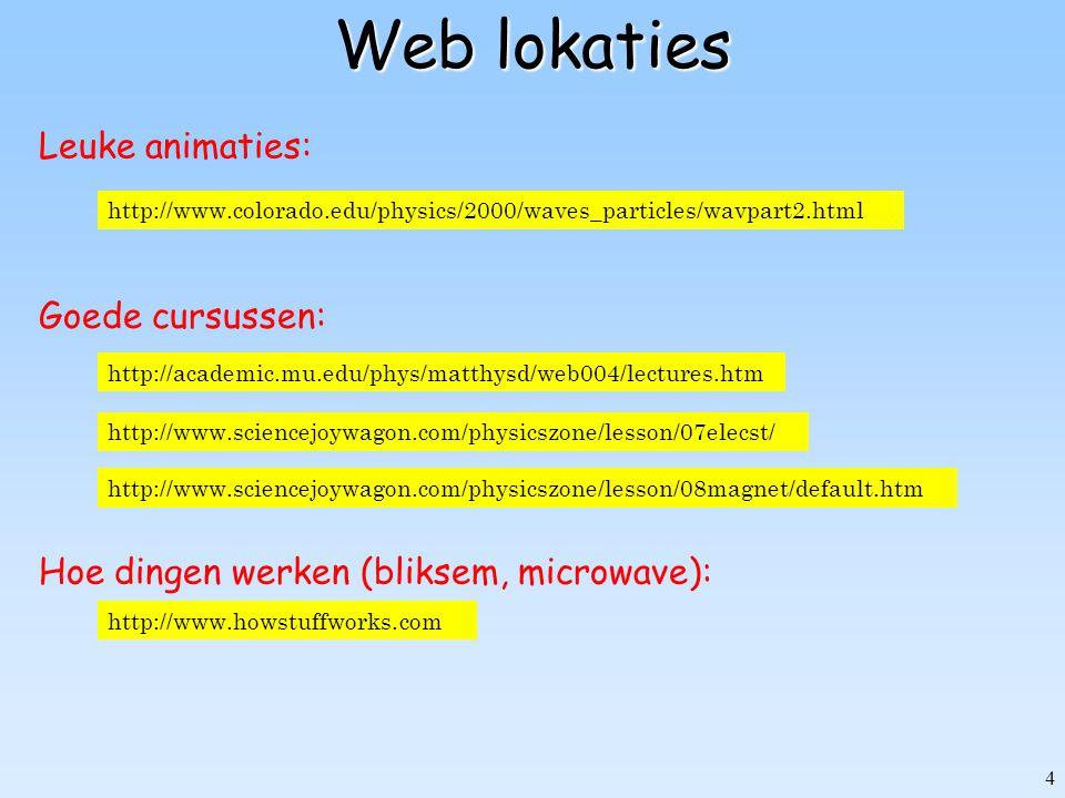 Web lokaties Leuke animaties: Goede cursussen: