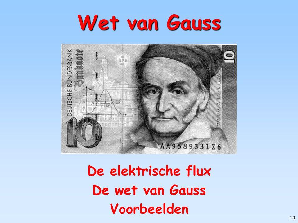 De elektrische flux De wet van Gauss Voorbeelden